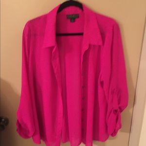 Hot pink button up!